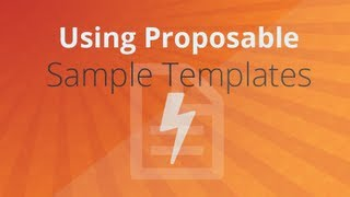 Using Proposable Sample Templates Tutorial