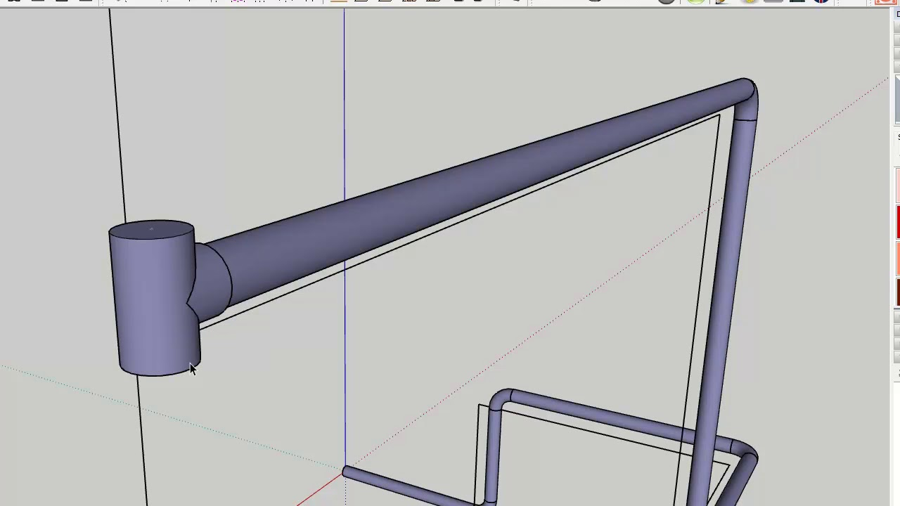 Cool pipe extension for Sketchup