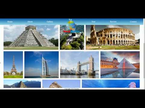 Travel Website - Project work done by Student - Kavyashree