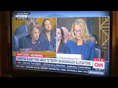 Senator Diane Feinstein Statement Before Dr Christine Blasley Ford