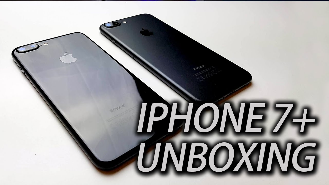 Iphone 7 Plus Jet Black Unboxing - 鋼琴黑還是深黑?新拍照模式? - YouTube