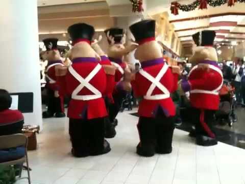 Reindeer mascots at Memorial City Mall