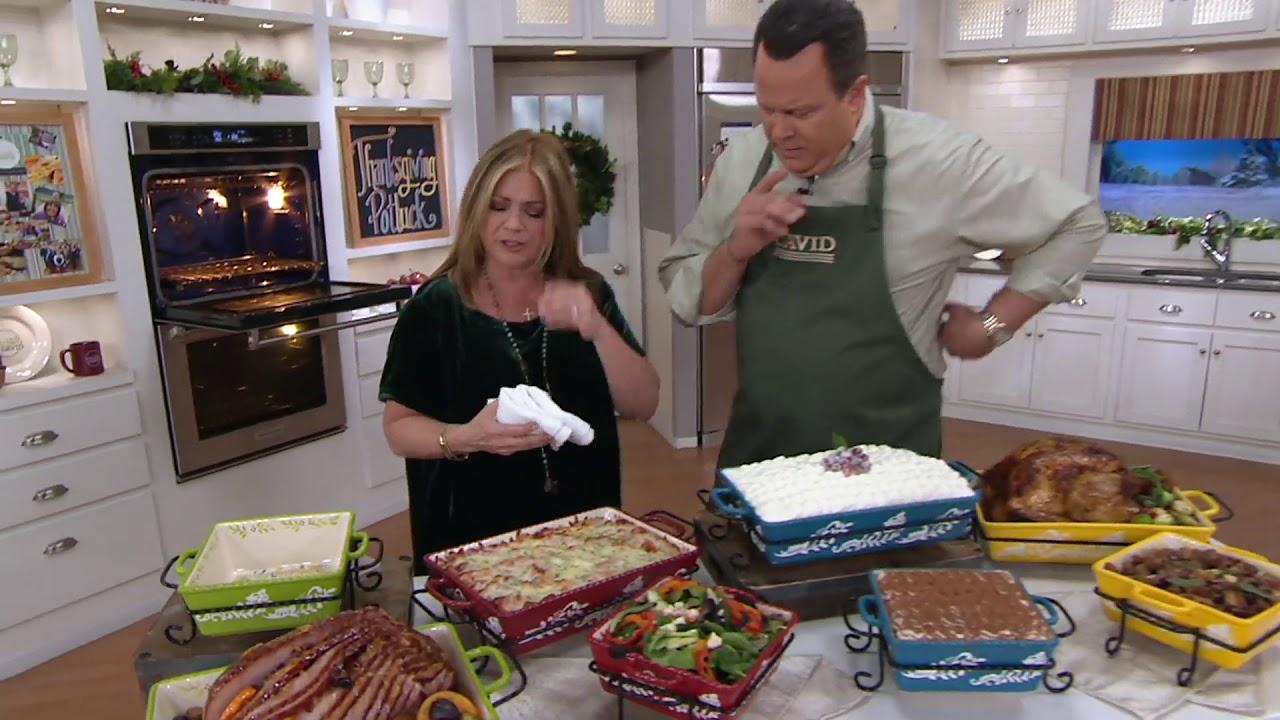 Valerie Bertinelli 4 Piece Bake Serve Set W Lids On Qvc Youtube