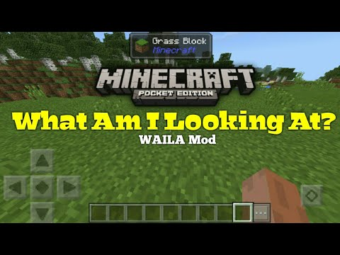 What Am I Looking At Waila Mod In Mcpe Show Block Ids Mob Healths And More Youtube