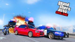 Полицейская Погоня за Subaru WRX STI в GTA 5 Online! Полицейские Догонялки в ГТА 5!