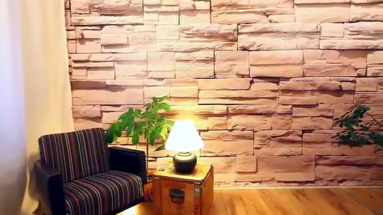 Wohnzimmer Ideen Steinwand