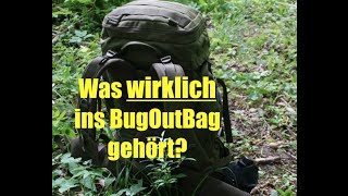 Was wirklich ins Bug Out Bag bzw. INCH gehört?