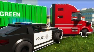 SEMI TRUCK POLICE CHASE! - Brick Rigs Multiplayer gameplay - Lego Cops & Robbers
