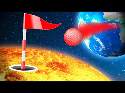 CRAZY GOLFING BETWEEN PLANETS! (Golf It)