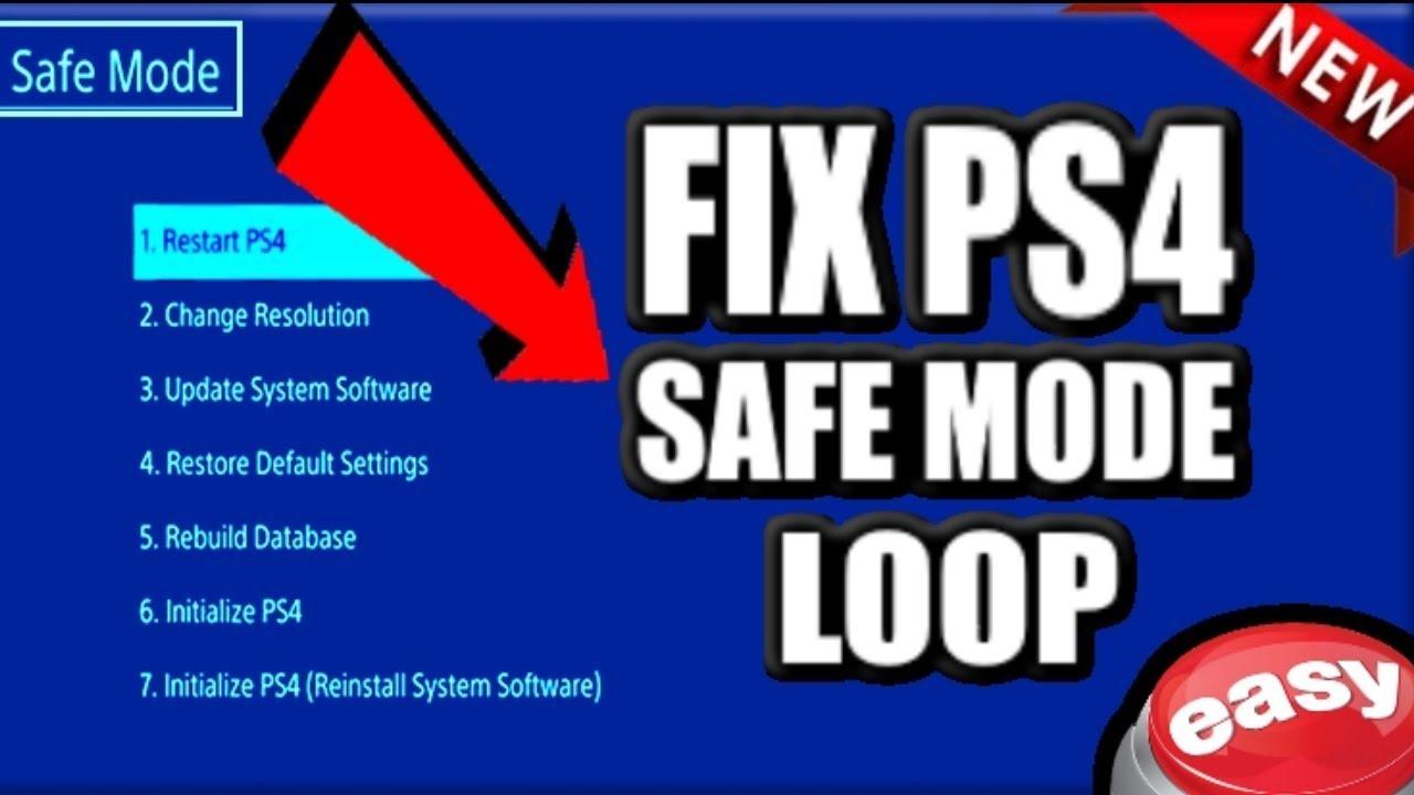 How to FIX PS4 Safe MODE LOOP! (5 BEST METHODS) (2019 Help Tutorial)
