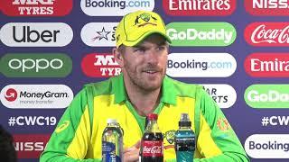 CRICKET WORLD CUP   England vs Australia - Aaron Finch reaction