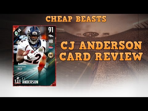 CHEAP BEASTS! CJ Anderson Review! Madden 17 Ultimate Team!