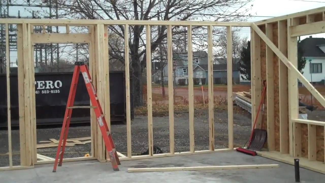 Video # 23 Plywood Put on the Framed Outside Walls - YouTube