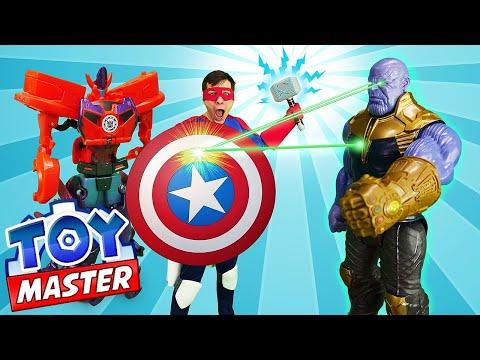 Игры для мальчиков - Танос против Мстителя Той Мастера! - Видео с супергероями.