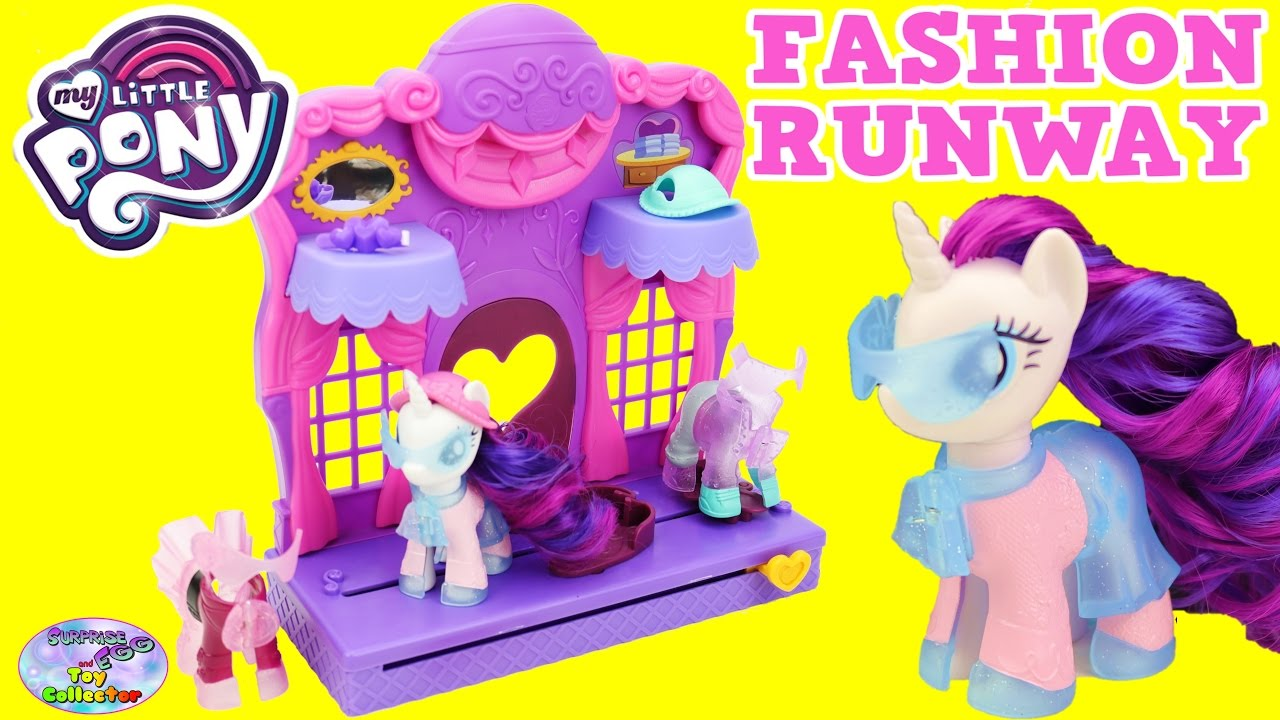 My Little Pony Rarity Fashion Runway Set New Clip Style Mlp Surprise Egg And Toy Collector