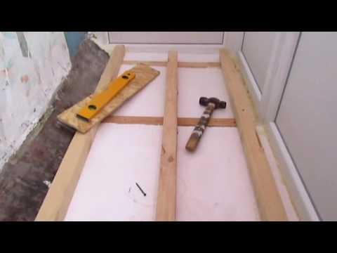 Как выровнять пол на балконе своими руками пошагово с фото