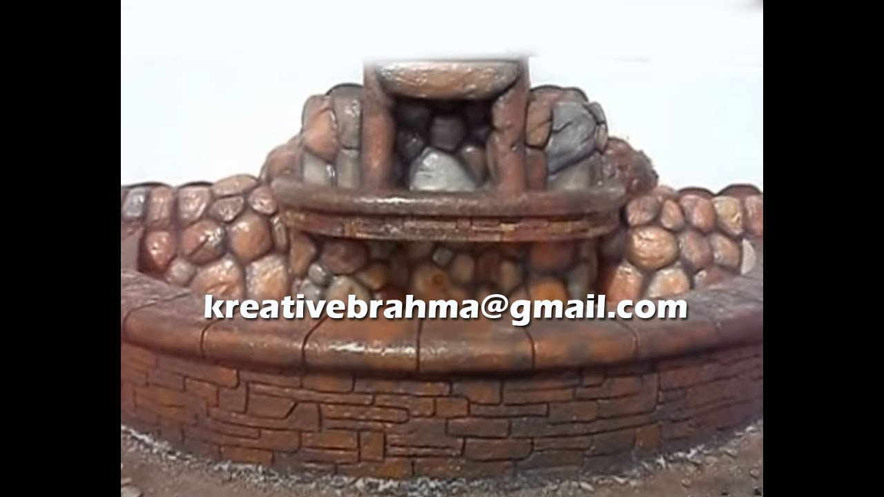 cement made artificial rock fountain youtube