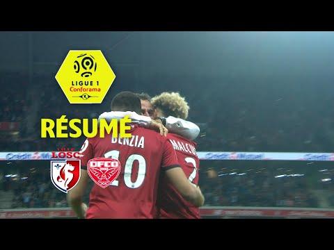 LOSC - Dijon FCO ( 2-1 ) - Résumé - (LOSC - DFCO) / 2017-18