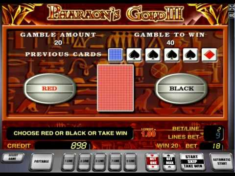 Игровой процесс онлайн автомат Pharaoh's Gold III (Золото фараона III)