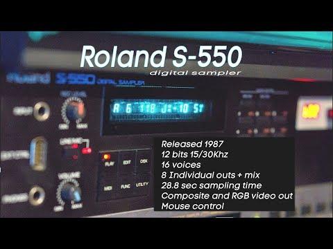 Roland S-550 and Gotek USB-Floppy Emulator   Review & Demo