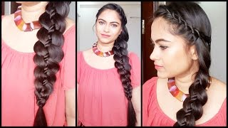 4 strand Rope Twist Braid // Easy hairstyles for medium to long hair//indian hairstyles