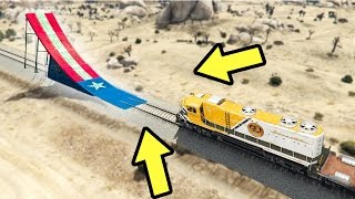 what happens when a ramp is in front of a train in gta 5