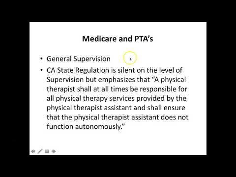 PT/PTA California Rules & Regulations