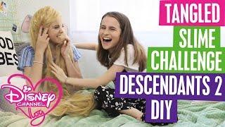 DISNEY CHANNEL VLOG   SLIME CHALLENGE   DESCENDANTS 2 DIY   TANGLED   Official Disney Channel UK