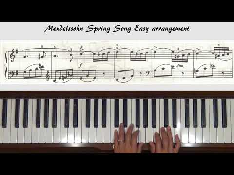 Mendelssohn Spring Song Level 3 Easy arr. Piano Tutorial