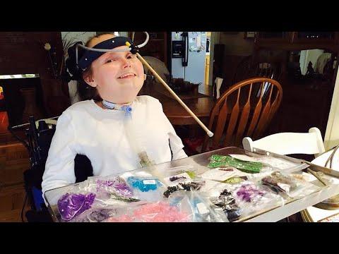Quadriplegic Woman Makes Incredible Jewellery