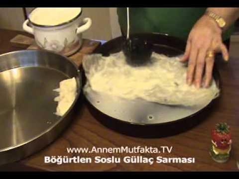 Böğürtlen Soslu Güllaç Sarması Tarifi - YouTube