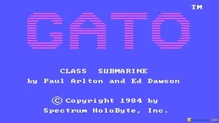 Gato - 1984 PC Game, gameplay