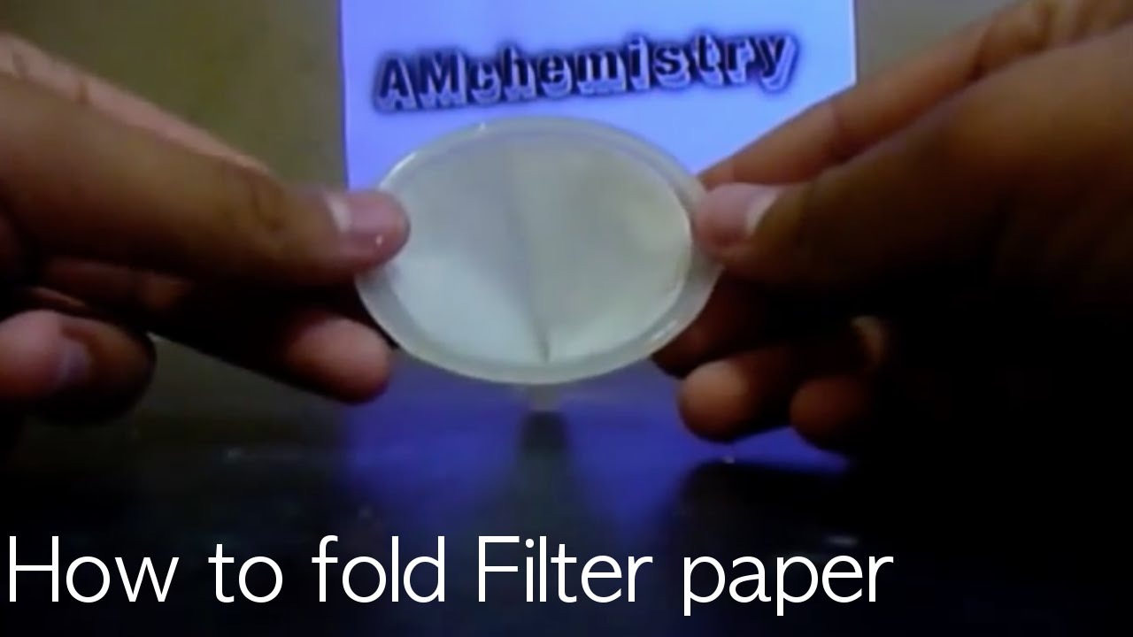 how to fold filter paper youtube