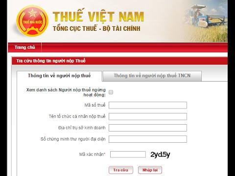 Hướng dẫn tra cứu thông tin người nộp thuế- gdt.gov.vn