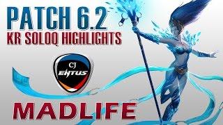CJ Entus MadLife - Janna Support - KR SoloQ Highlights