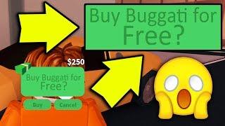 GET A BUGATTI FOR FREE IN JAILBREAK! | Roblox
