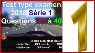 Code de la route Version #française Série (1) Permis de Conduire B, Le test n'est pas réel