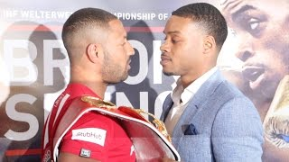 HEATED WORDS TRADED! - KELL BROOK & ERROL SPENCE GO AT IT IN HEAD TO HEAD @ PRESS CONFERENCE
