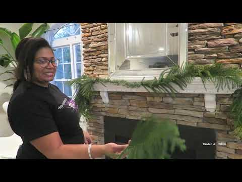 christmas-tree-and-mantel-decorating-2019-#christmas-#decoratewithme-#howto