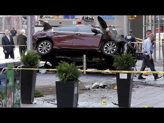 Car crash in New York's Times Square