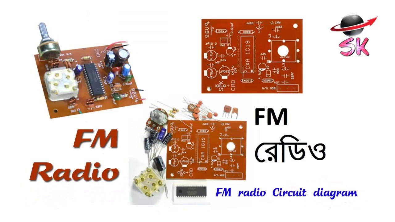 make a fm radio with just one ic electronics projects santo khan youtube [ 1280 x 720 Pixel ]