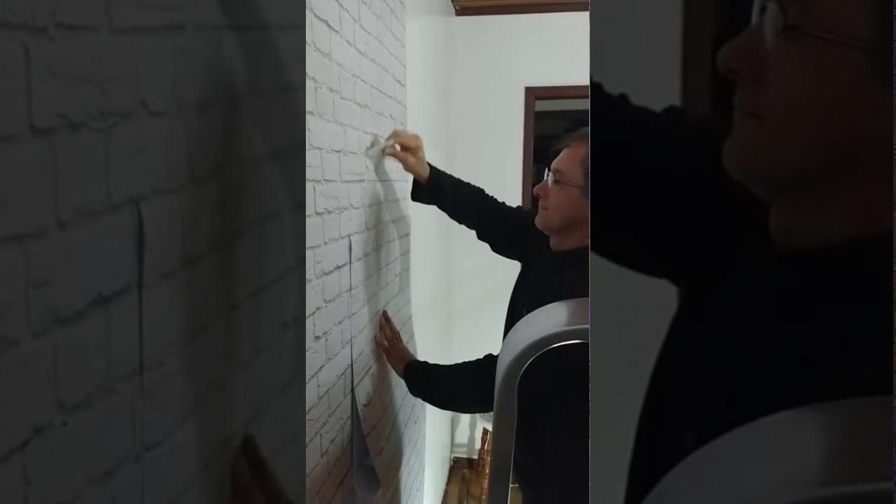 Coloca o de papel de parede adesivado youtube - Papel de vinilo para cocinas ...