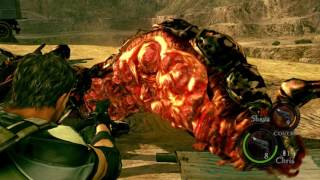 Resident Evil 5 PS4 - Chapter 2-2: Quarry: Popokarimu (Giant Bat) Bossfight & Intro / Post Cutscenes
