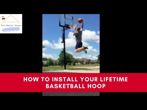 🍒 How To Install (Step-by-Step Guide) - Lifetime Power Lift Adjustable In-Ground Basketball Hoop