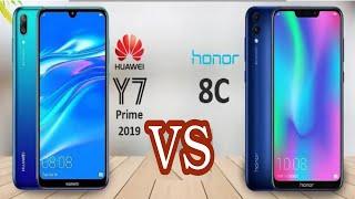 مقارنة بين الأخوين هواوي Y7 Prime 2019  وهونر Honor 8C وسعرهم في مصر