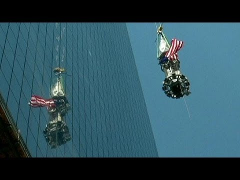 La flèche de la nouvelle tour du World Trade Center installée