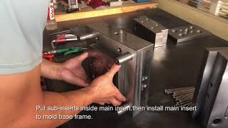 How to assemble a plastic injection mold