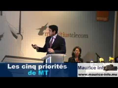 Les 5 priorités de Mauritus Telecoms