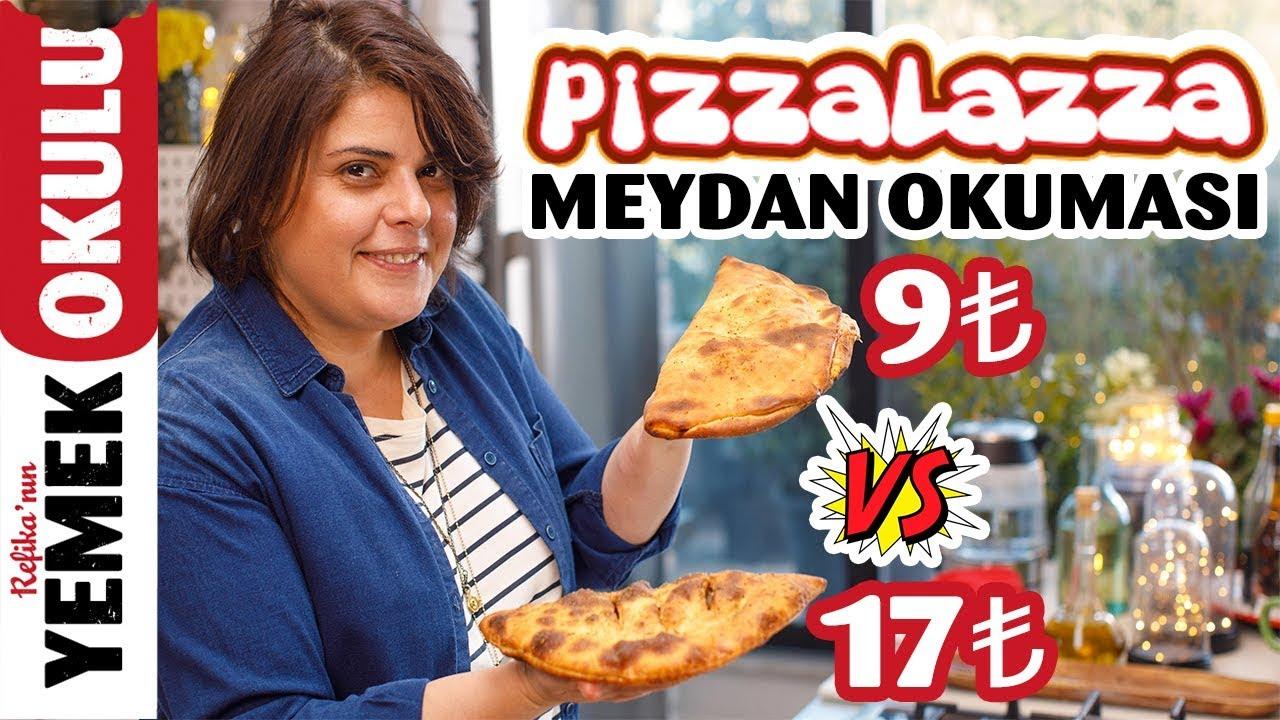 17TL VS 9TL Pizza Lazza (Challenge) Meydan Okuması | Evde Daha Hızlı ve Ucuz Pizza Lazza Tarifi