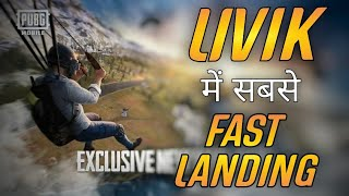 How To Land Fast In Livik Map | 2x Fast Landing Tips and Tricks | PUBG Mobile